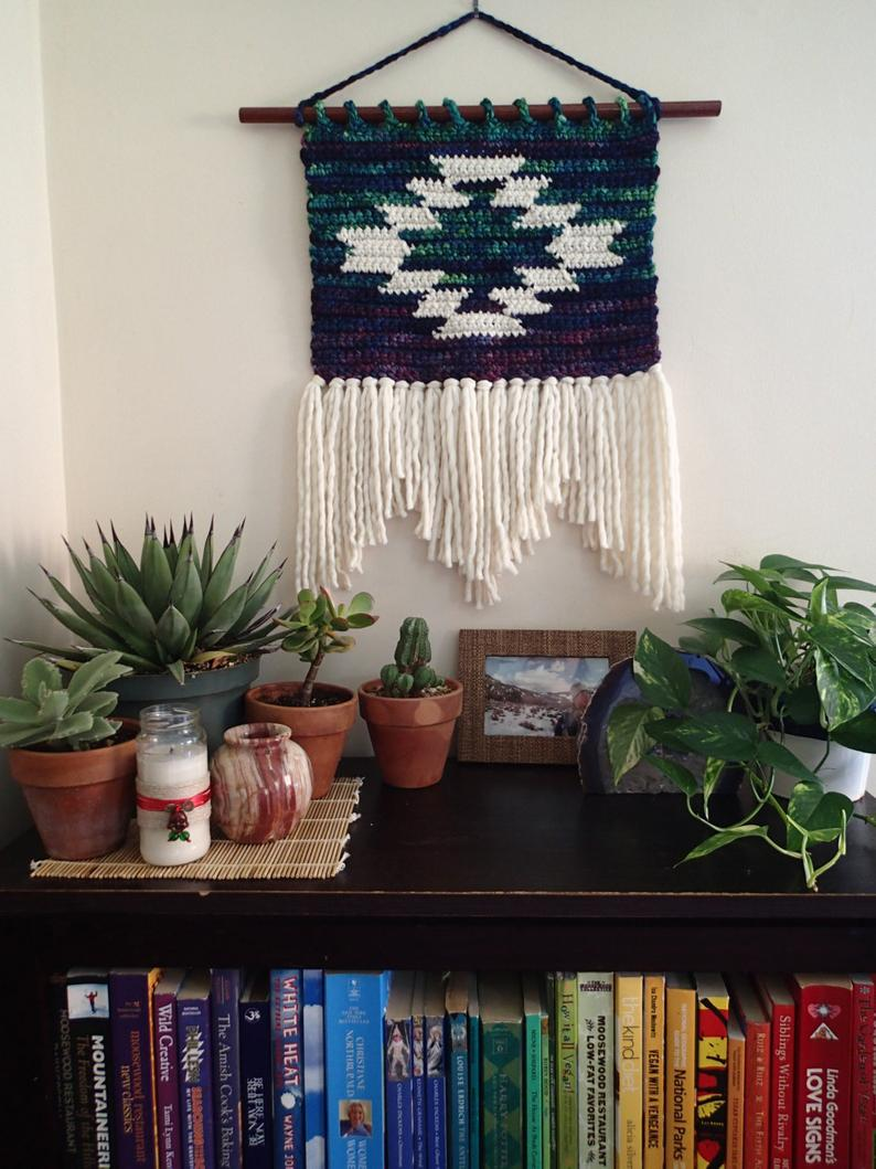 Small Mountain and Mesa Wall Hanging Crochet Pattern- Size Small, PDF Instant Download, Non-Profit Shop, Wall Art, Mat