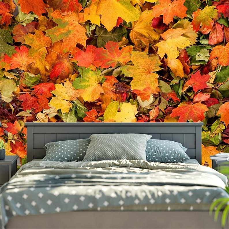 3D Printed Fall Maple Leaf Tapestry Wall Hanging Bohemian Tapestries