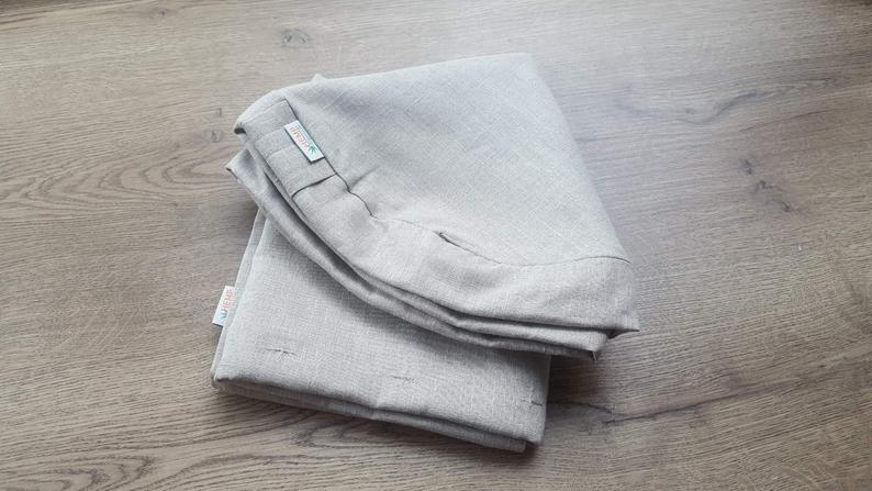 Special listing for Sue: one set Set of Zafu&Zabuton covers Linen natural grey non-dyed covers with zipper
