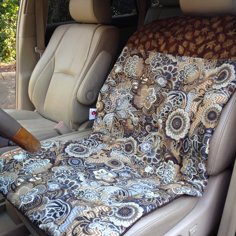 Designer CAR SEAT COVER makes a Great Gift for the Fitness Fanatic, Tennis Player, Runner, Swimmer, Pilates or Yoga, Pet Auto Seat Protector