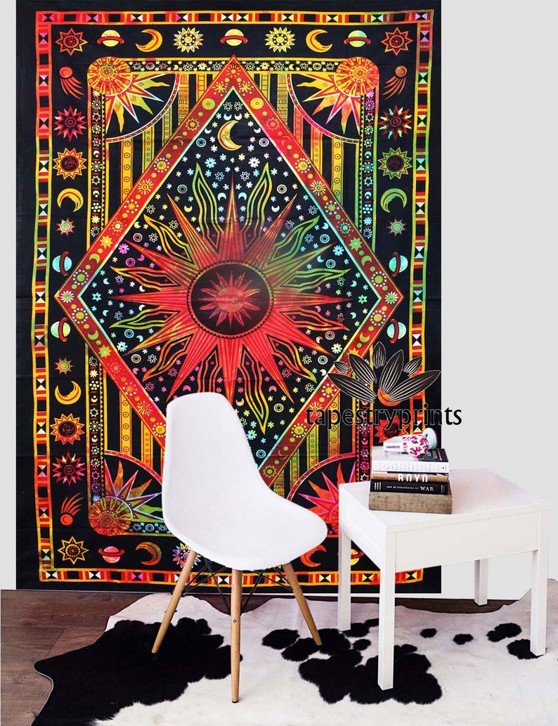 Yoga Mat Multi Color Galaxy Tapestry Twin and Queen Size Psychedelic Wall Hanging Home & Living Decor Bedspread Best Cotton  Beach