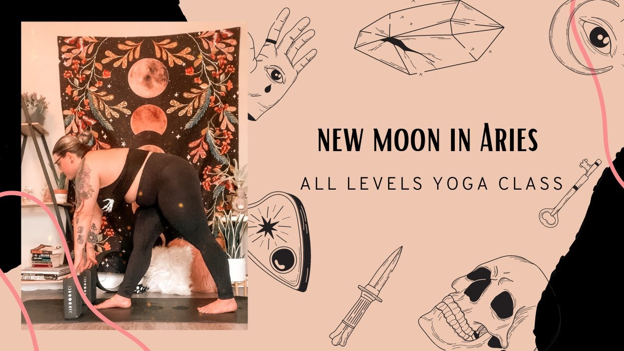 NEW MOON IN ARIES YOGA CLASS ♈️🔥 FIRE UP YOUR SOLAR PLEXUS CHAKRA