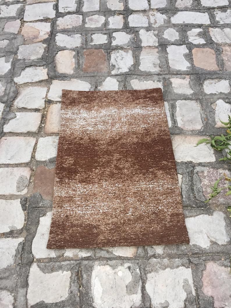 20×30 Inch Handmade Dari Rug Indian Wool Rug Oushak Rug Ethnic Designer Bath Rug Yoga Mat Home Rug