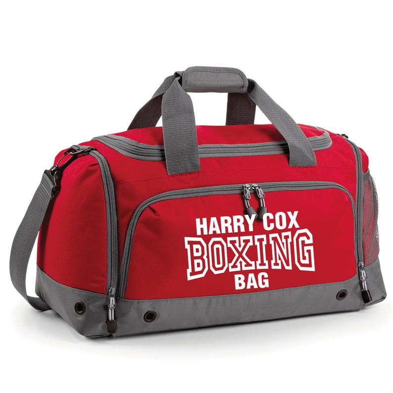 iLeisure Boxing Holdall Printed Kit Bag.Personalised Holdall Backpack Dance Gym Ballet Weekend