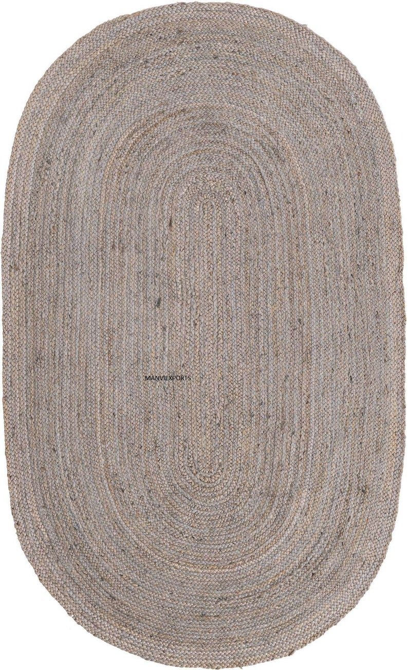 2×3,3×5,6x9Ft Jute ovel, Home decor natural jute rug, Yoga mat, Living room runner, Cotton rag rug,natural ovel jute rug, braided rag rug