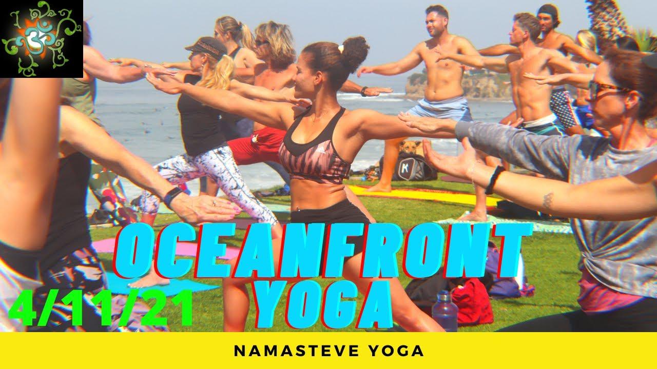 Easy Like Sunday Morning Oceanfront Yoga | Basic Flow Yoga| Vinyasa Yoga | Namasteve Yoga