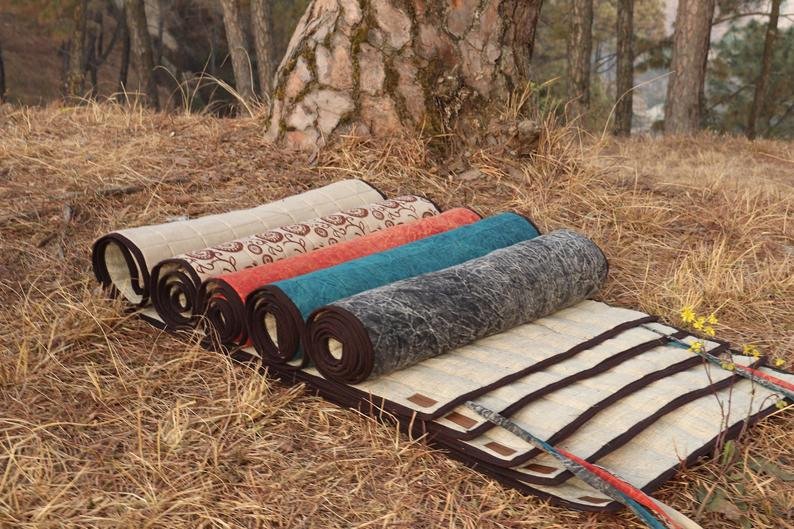 Organic Hemp Yoga Mat, 100% Handmade, Eco-Friendly, Natural and Biodegradable.