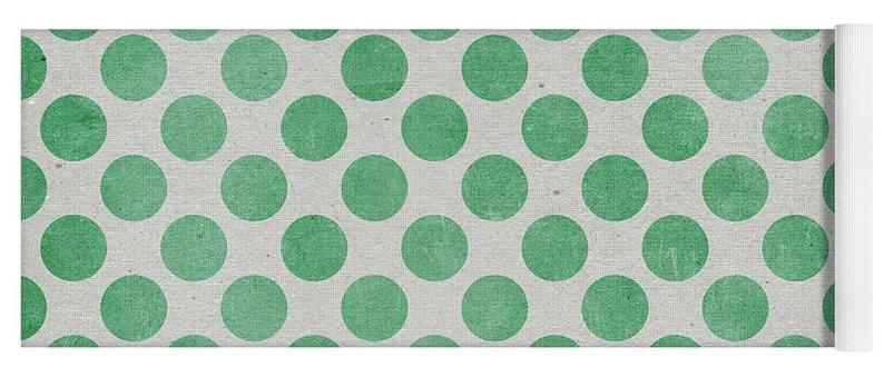 Forest Green Polka Dots, Forest Green Dots – Yoga Mat