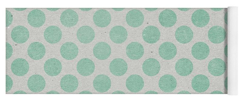 Green Polka Dots, Green Dots – Yoga Mat