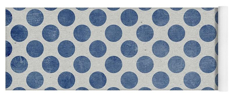 Blue Polka Dots, Blue Dots – Yoga Mat