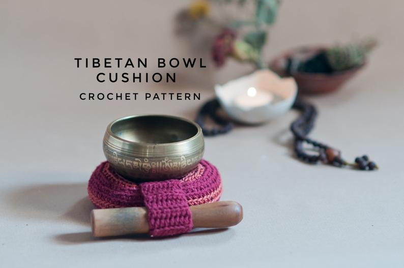 Tibetan Singing Bowl Cushion // Pillow // Crochet Pattern // Beginner-Intermediate level // Meditation // Yoga // Chakra Healing //Homedecor