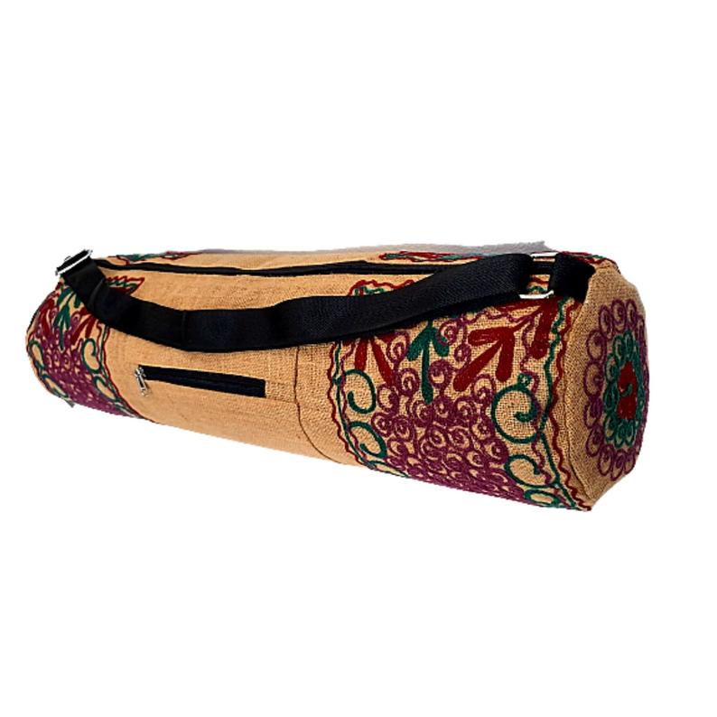 Embroidered Jute Yoga Mat & Gear Bag