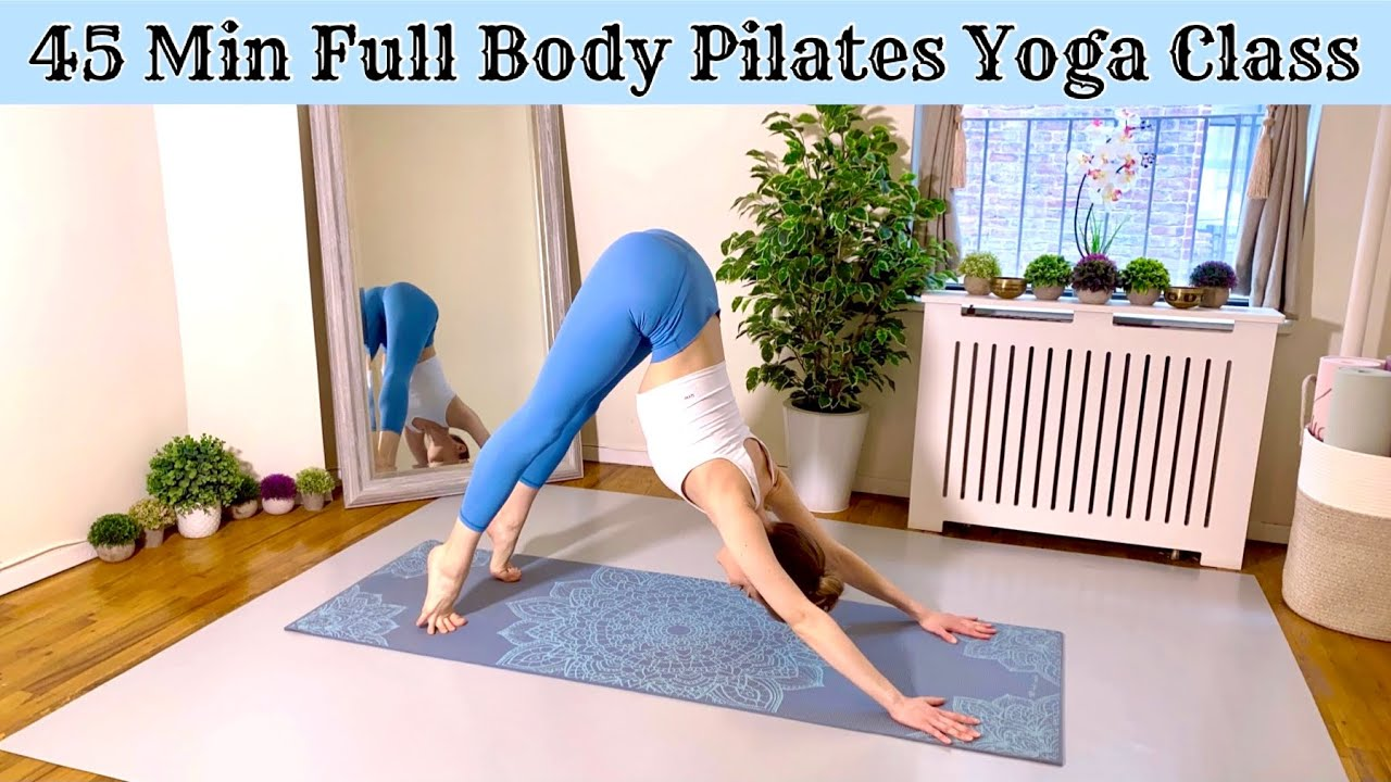 45 Min Full Body Pilates Yoga Class | Intermediate At Home Workout