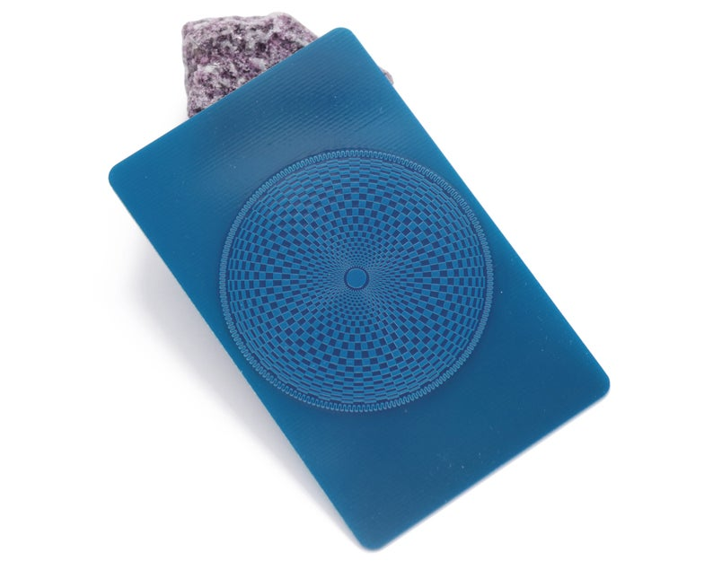 Scalar wave EMF protection energy card, tesseract and torus protection card, empath protection card