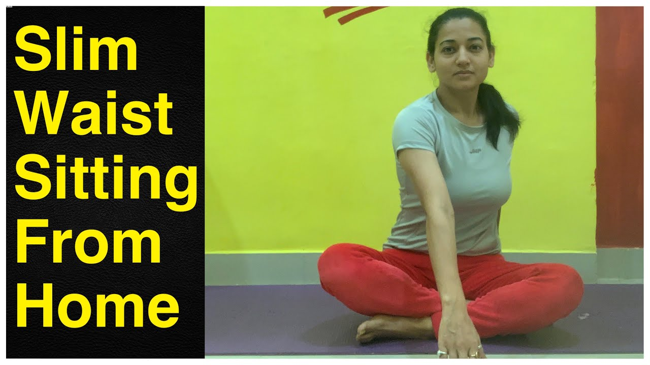 Slim your Waist Sitting from the Comfort of your Home | 5 Sitting Exercises