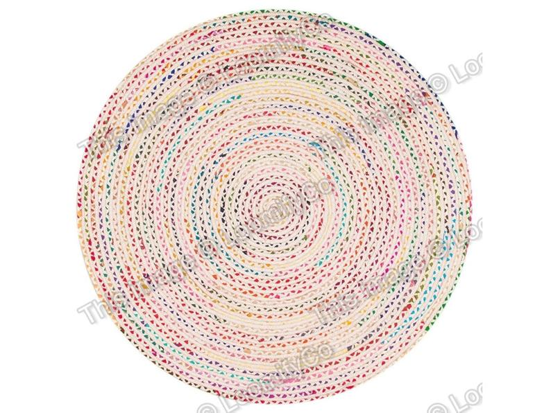 4×4, 5×5, 6×6, 8×8, 10×10 ft Recycled Round Rug, Handmade White Braided Rag Rug, Round Area Rug, White Rag Rug, Eco Friendly Rug, Large Rug