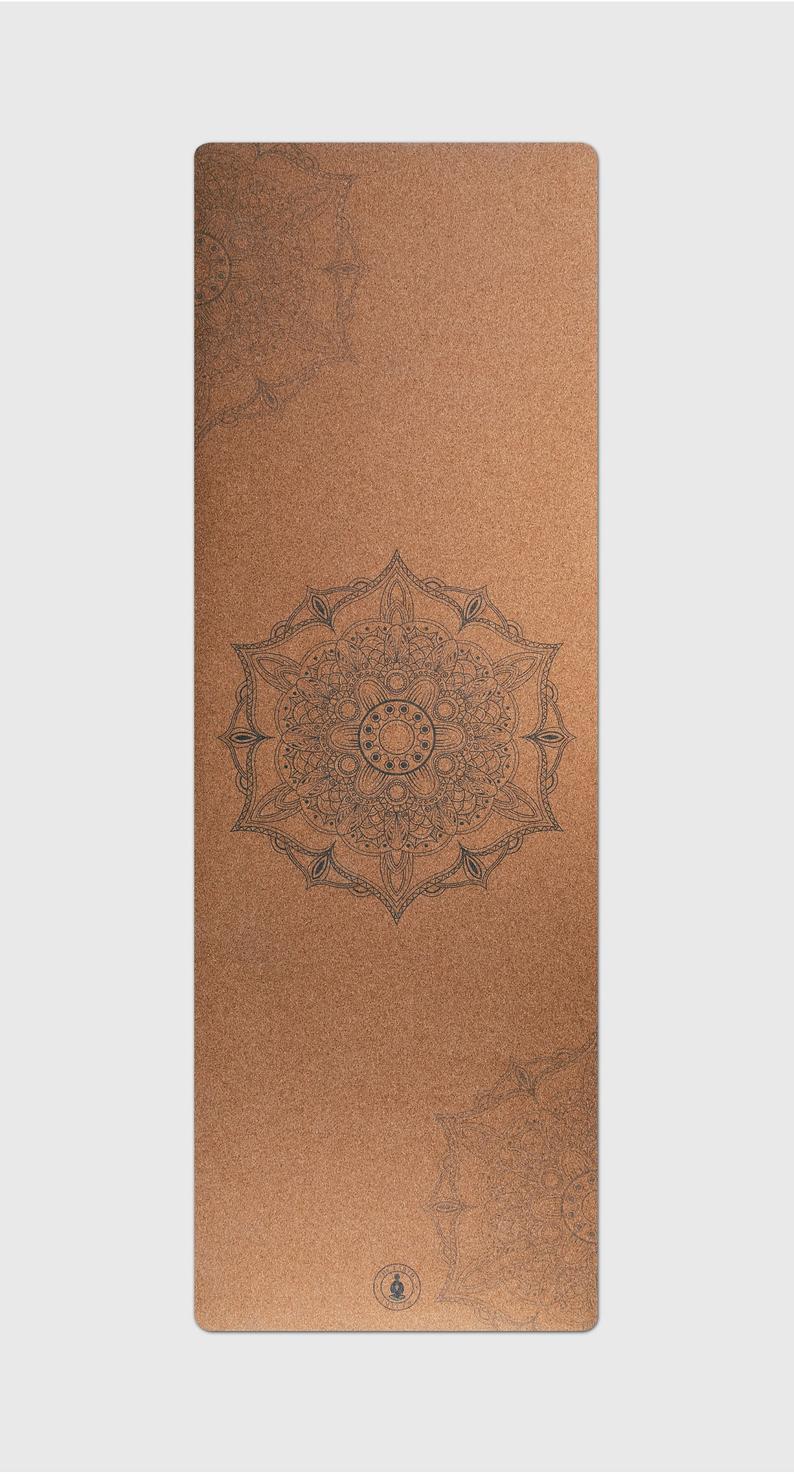 Cork Yoga mat, Mandala