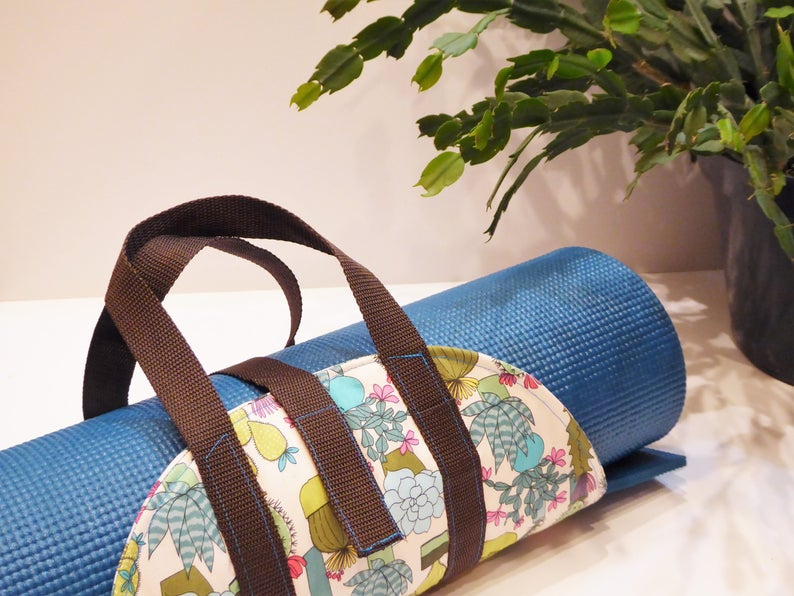 ONE-of-a-KIND: Succulent Garden Yoga Mat Carrying Sling