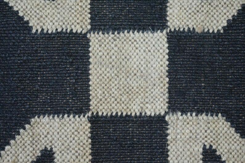 Handmade rug wool jute mat wool jute rugs jute area rug living room rug jute rug floor mat vintage rug Bedside Rug Sofa side Rug Floor Rug