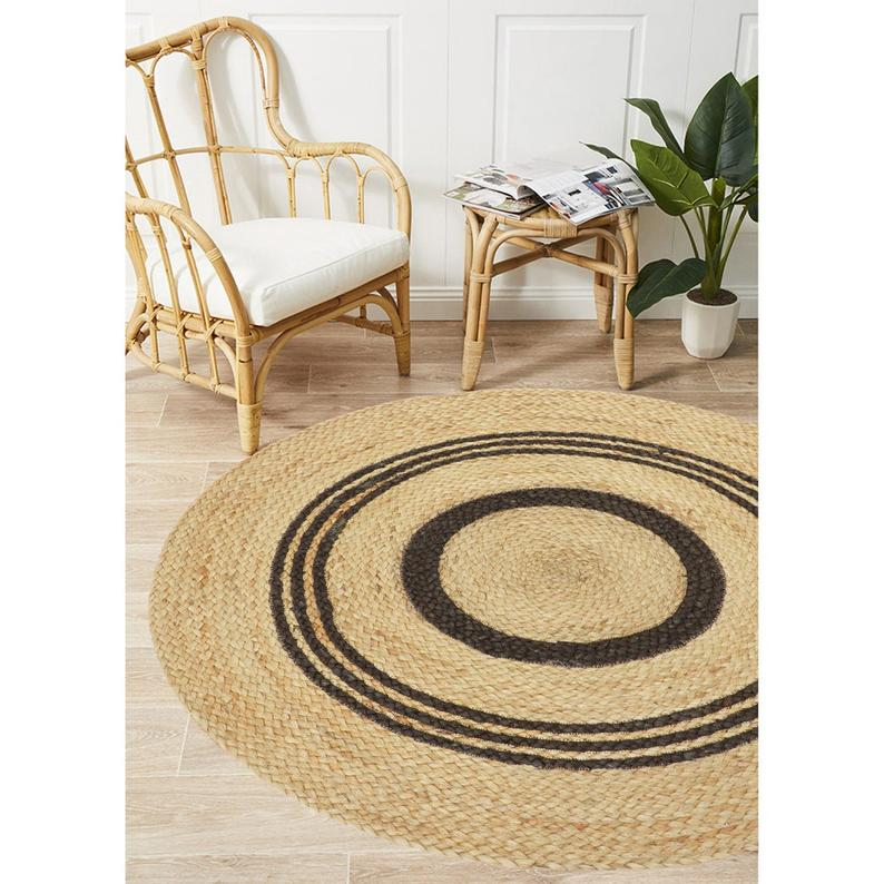 Round Rugs Indian Handmade Jute Round Rug Purely Yoga Mediation Rugs Braided Beautiful Traditional Rugs Room Decor Carpet