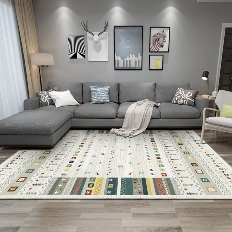 Flower Elk Living Room Carpet Ins Nordic Style Carpet Fashion Coffee Table Blanket Household Bedside Blanket Bedroom Floor Mat Yoga Mat