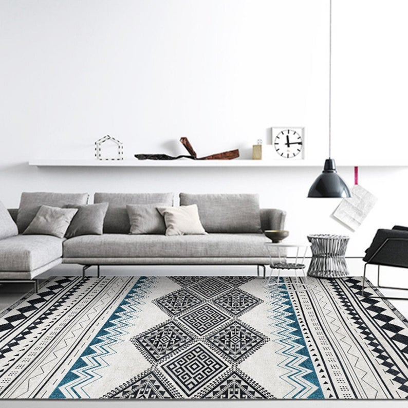 Simple Line Living Room Carpet Ins Nordic Style Carpet Fashion Coffee Table Blanket Household Bedside Blanket Bedroom Floor Mat Yoga Mat