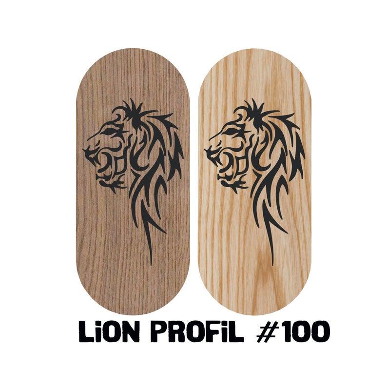 Lion profil natural wood Sadhu board | Board with nails with custom design | NiiDRA nail board | Board with nails | Meditation sadhu board