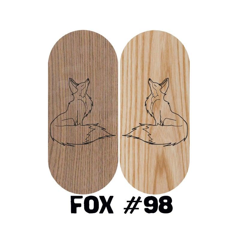 Fox natural wood Sadhu board | Board with nails with custom design | NiiDRA nail board | Board with nails | Meditation sadhu board
