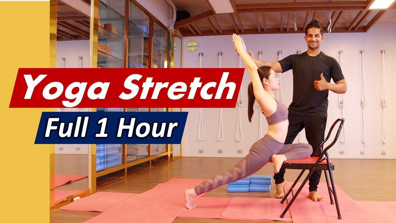 1 Hour Basic to Advanced Level Yoga Stretching For Splits | Hip Flexor Stretch Yoga | Yograja