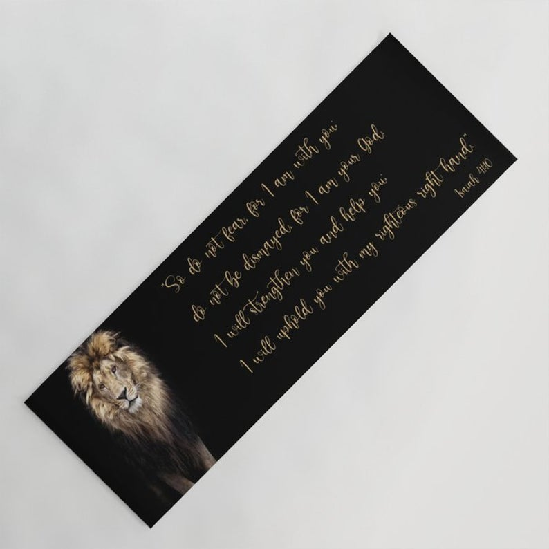 Floral Yoga Mat: Personalized Fitness Mat With Inspiring Quote, With Name Or Text, Perfect For Custom Gift For A Gym/Yoga/Pilates Lover