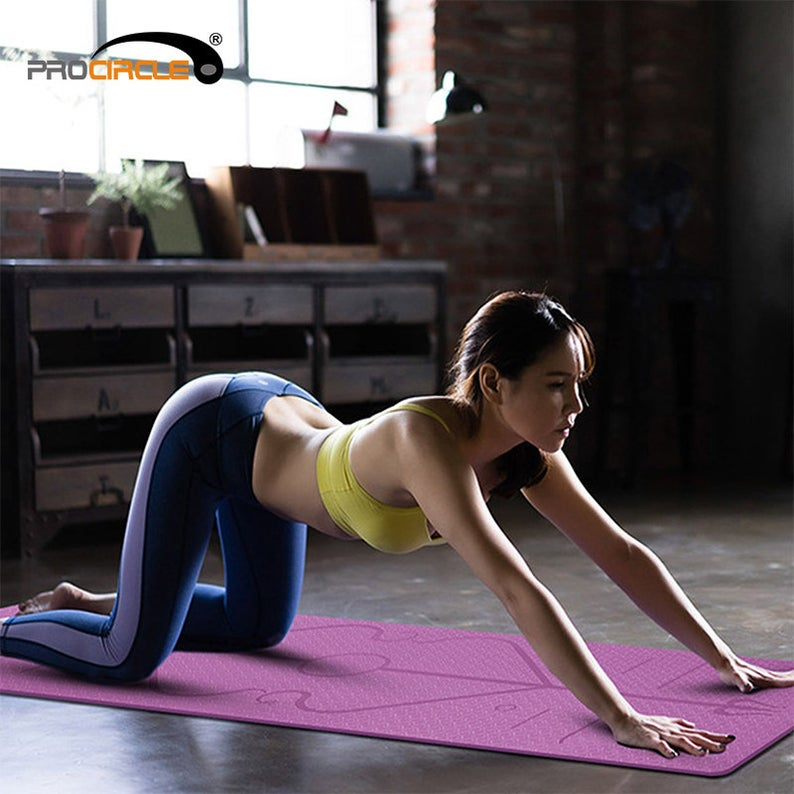 Eco Friendly Fitness Foldable Travel Yoga Mat