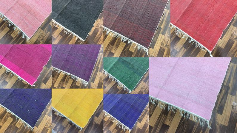 10Pc Wholesale Lot 4×6.ft Chindi Rug Area Rug Floor Rug Bohemian Carpet Runner Home Kitchen Decorative Rug Multi Color Indian Rug Assorted
