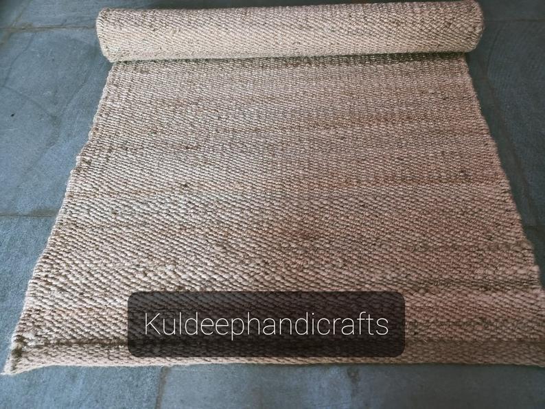 2×10,2.5×20,2.5×30′ Handmade Jute Rug Yoga mat throw carpet Hand loom Hemp Jute Runner hand loomed Decorative Rug Doormat Bed side Runner