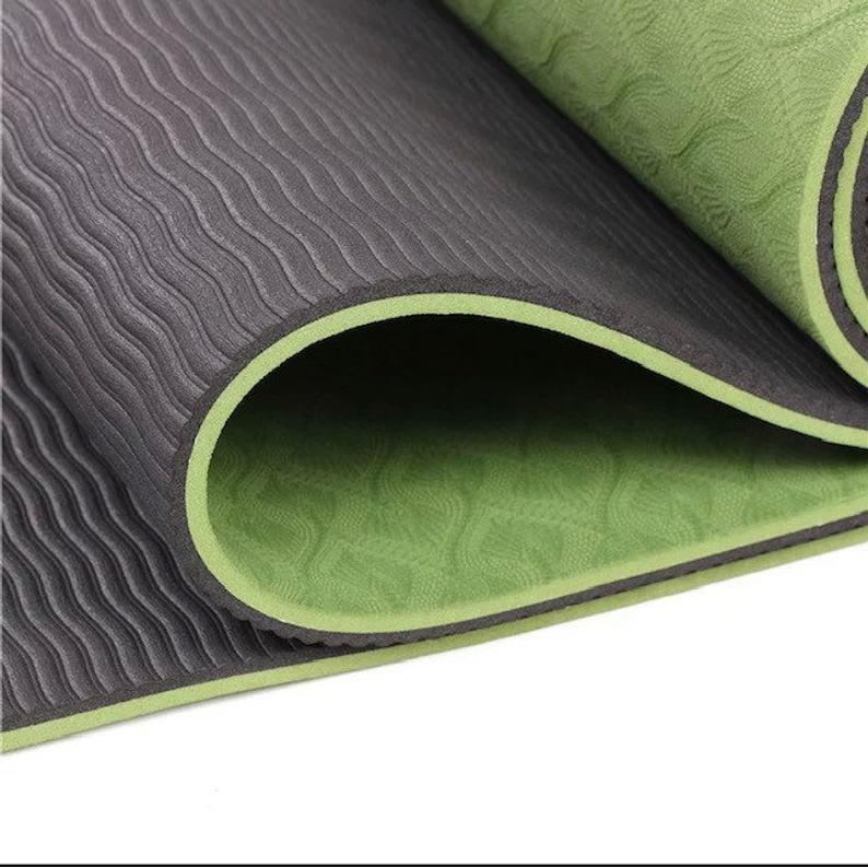TPE yoga mat, high density ECO friendly 6mm thick for All exercise