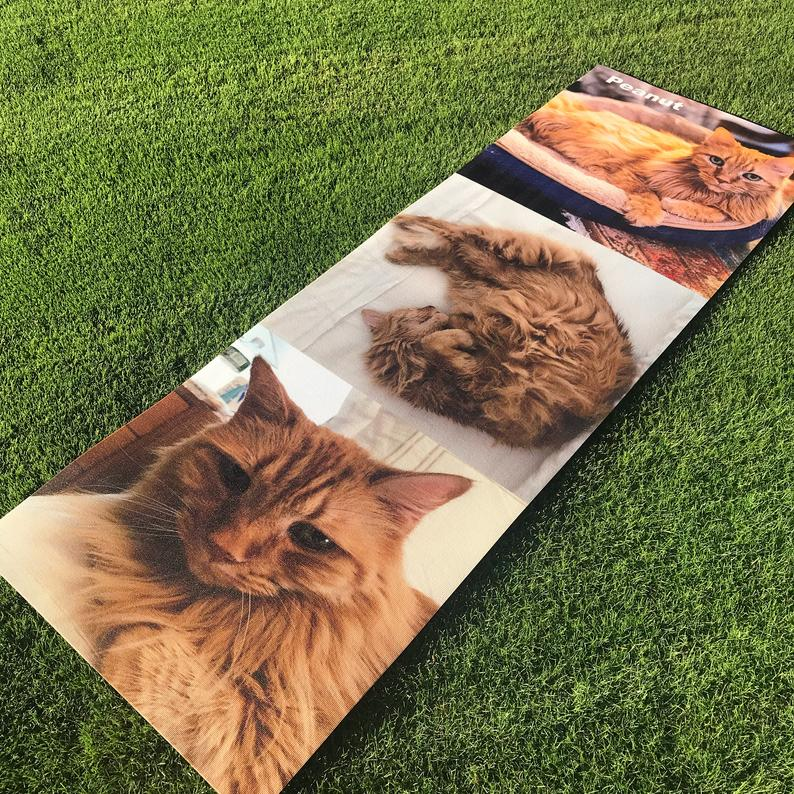 Custom Printed Yoga Mat ! | Great Gift | Personalize | High Quality | ECO Friendly | Your Logo | Dog and Cats | 24 hour Shipping