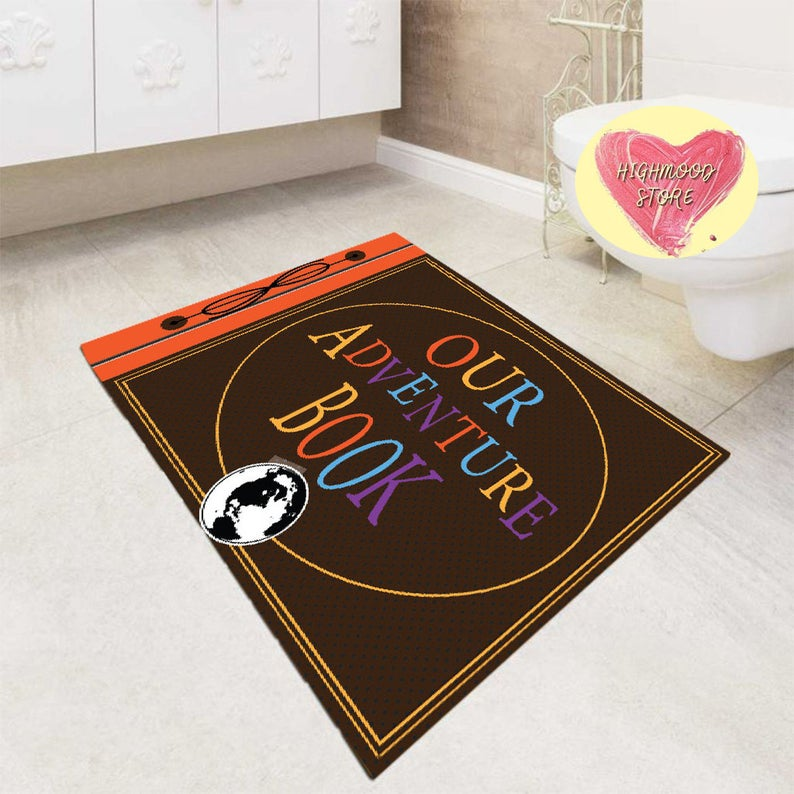 My Adventure Book Up Carl Ellie Rectangle Rug Funny Art Living Room Decor Carpet Floor Mat Polyester Rug Kid Play Area Birthday Gift For Mom