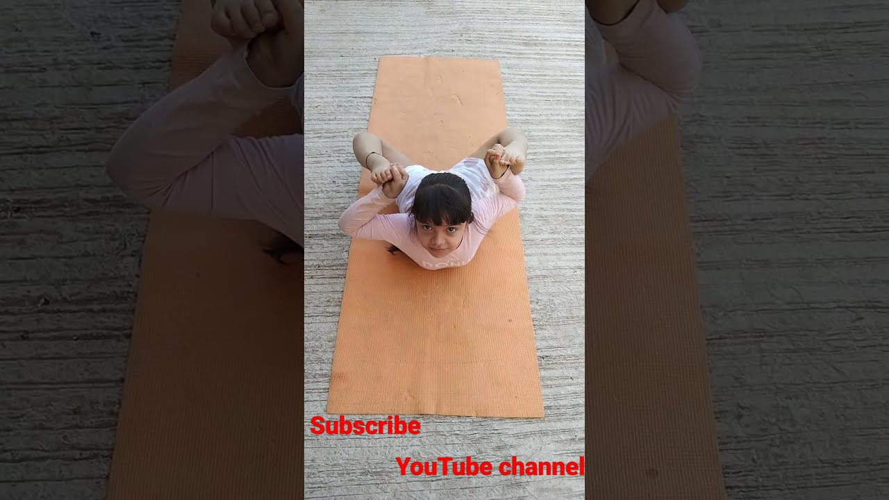 ✴️Dhanurasana, Bow pose, is a backbending asana in hatha yoga and modern yoga as exercise,, 🔆