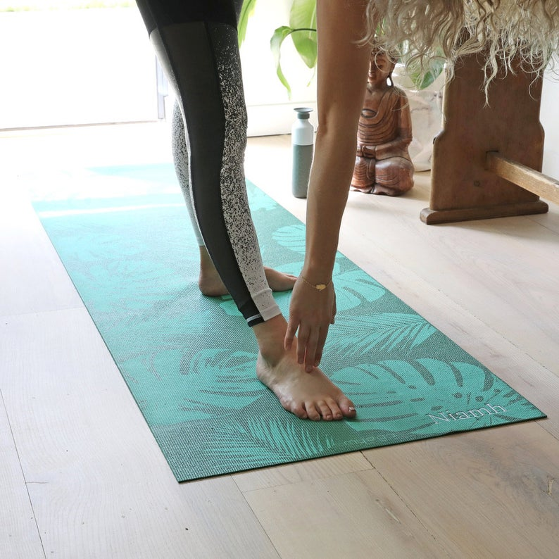 Personalised Embroidered Name Palm Yoga Mat