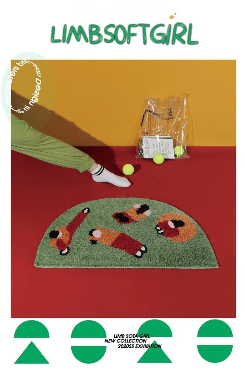 Designer | Quirky Yoga Gal Series Area Rug, Door Mat, Modern Rug, Area Rug, Living Room Rug, Rugs, Bedroom Rug, Art Rug
