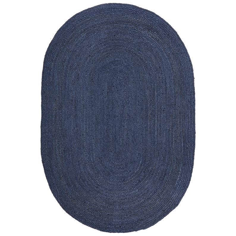 5×8,9×12,10×14 Ft.Natural Jute Rug, Turkish Rug, Braided Jute Rug, Handwoven Jute Rug, Blue Colour Rug, Oval Jute Rug, Kitchen Rug, Rag Rug