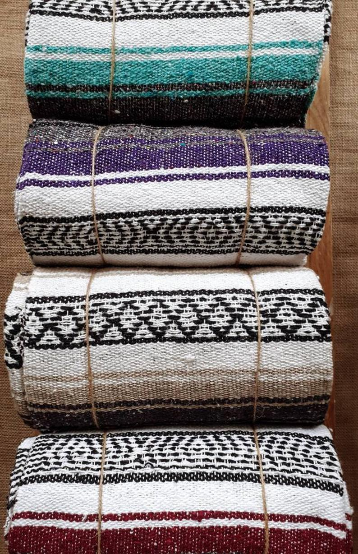 Mexican Falsa Blanket, Hand Loomed, Fairtrade, Perfect Yoga Meditation Blanket