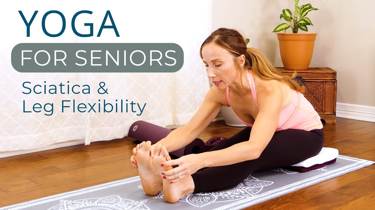 Gentle Yoga for Beginners   Sciatica Pain Relief & Leg Stretches with Tessa