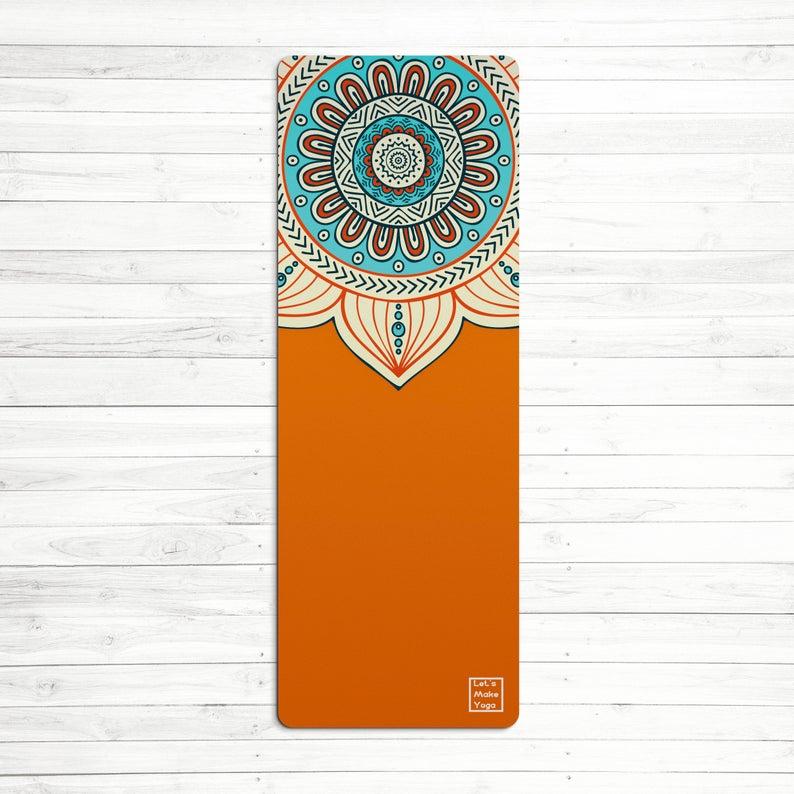 Custom yoga mat Fire mandala perfect gift for yoga lover