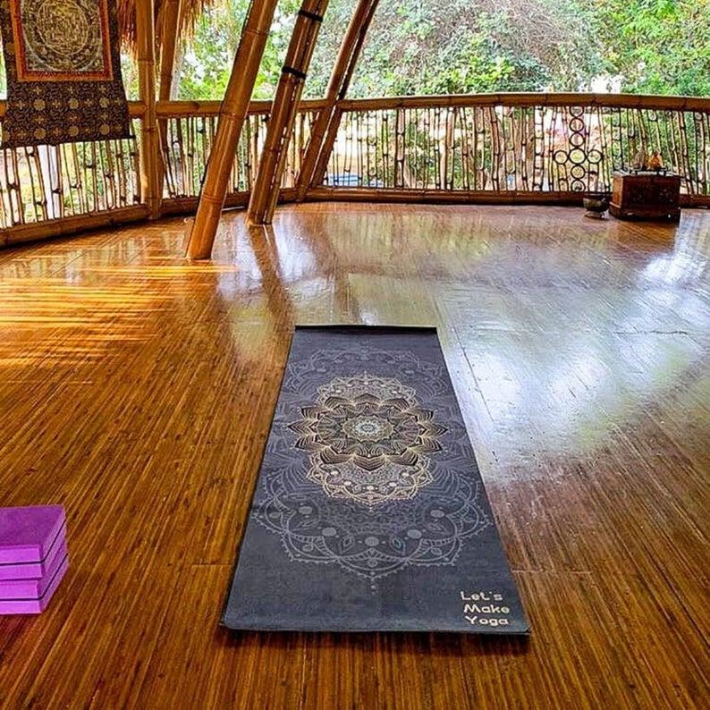 Custom yoga mat Volcano perfect gift for yoga lover Active