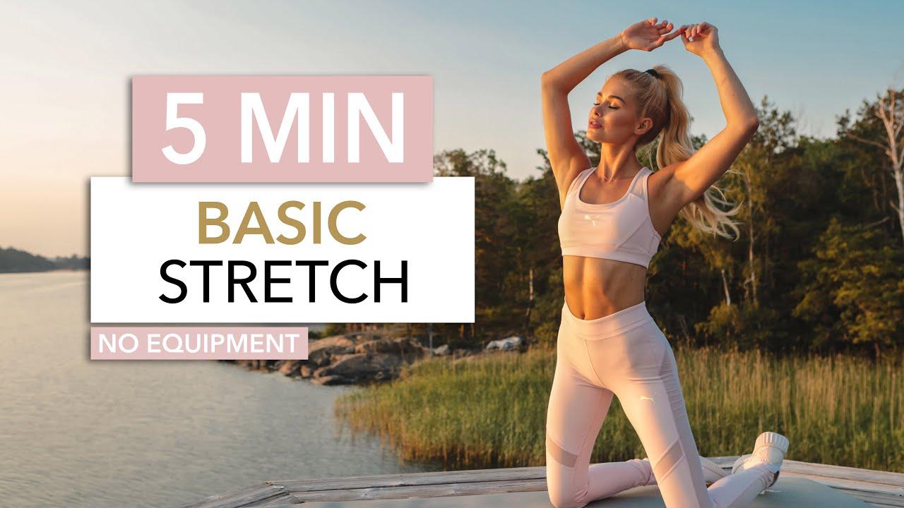 5 MIN BASIC STRETCH – short & sweet for every day / Classic Exercises I Pamela Reif