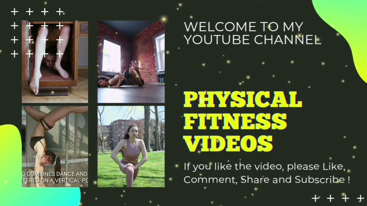PHYSICAL FITNESS VIDEO #83: Sexy fitness woman stretching + yoga poses…