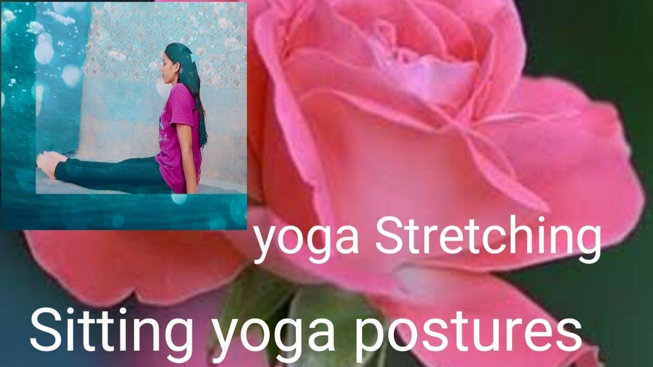 Sitting yoga postures । yoga Stretching  । yoga poses improve  your flexibility । Pn Arya dishu yoga