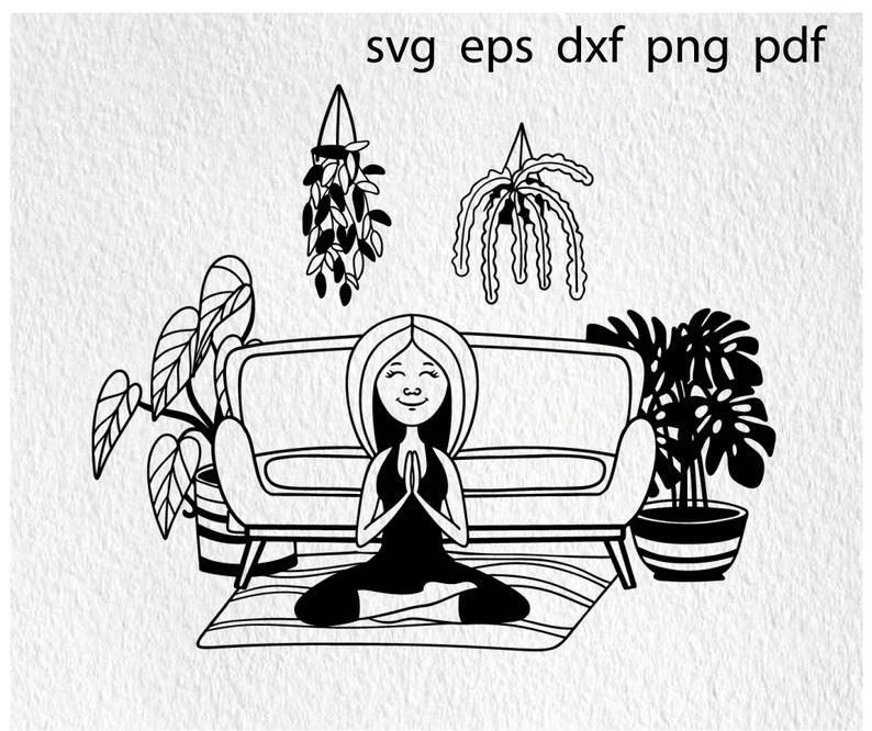 Yoga woman svg, meditation svg, yoga pose svg, yoga clipart, yoga women svg, namaste svg, spiritual svg, yoga girl svg, lotus pose svg