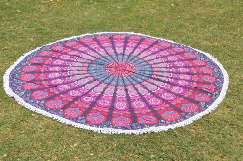 Peacock Mandala Tapestry Dorm Room Tapestry on SALE Wholesale Cotton Beach Towels